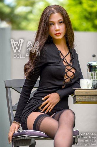 B-Cup 172cm Nayeli WM TPE Best Love Doll With No70 Head European Girl