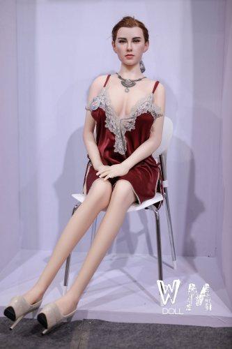Maia 168cm Solid Doll Wax Like Silicone Hair Transplant No1 WM Adult Dolls European Girl