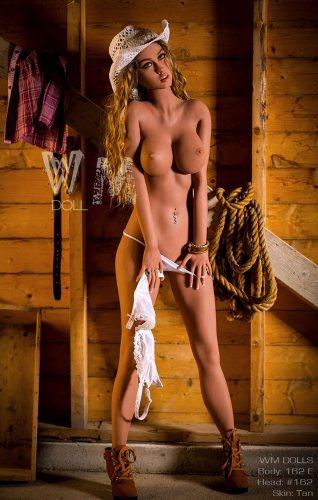 E-Cup 162cm Sutton WM Life Size TPE Sex Doll With No162 Head European Girl