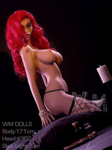 171cm Angelina TPE WM Life Size Love Doll With No302 Head European Girl