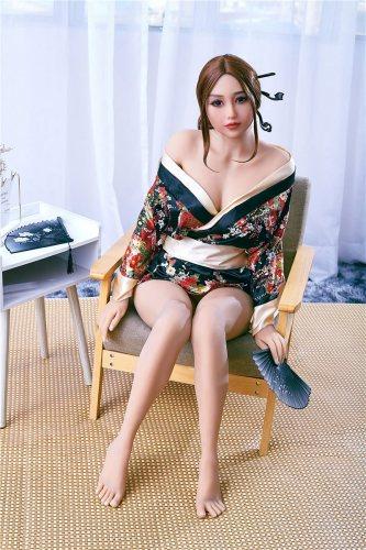 Navy Best Irontech Real Doll 159cm Asian Dolls Girl
