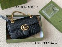 GG Marmont Double G button black 22*14cm