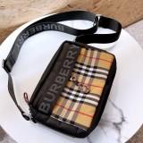 Burberry Vintage plaid leather cross-body bag 23cm