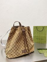 GUCCI  bucket bag imported cowskin fabrices jean 32*34