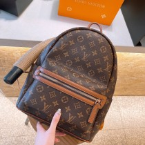 Louis Vuitton's hottest backpack Mini satchel with one shoulder slanting over a woman's bag