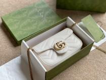 GG Marmont Double G button white  mini   16*5