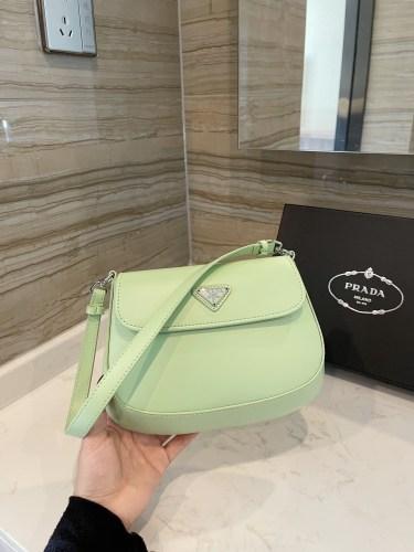 Prada Cleo patent leather underarm bag 23*16