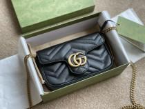 GG Marmont Double G button black  mini   16*5