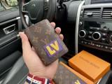 LV  wallet classic flower 💼 original microfiber fabric counter new suit clip