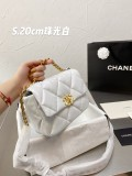 Chanel 19  bag Bead light white  25 cm