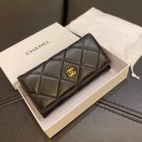 chanel sheepskin two fold purse 19*10