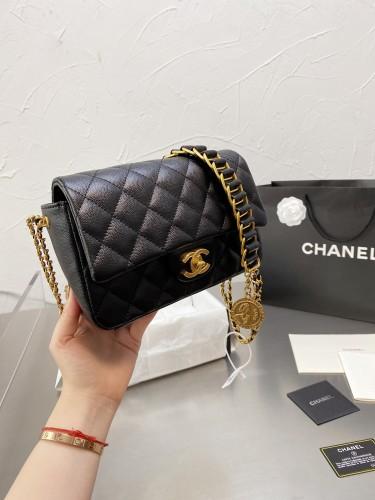Chanel new gold coin bag coin bag tassel shoulder strap 20cm