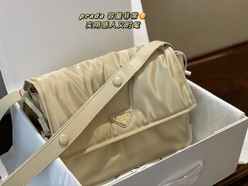 Prada new nylon messenger bag cross-body bag size:30×13×24cm