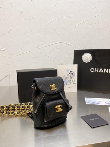 Chanel Vintage sheepskin print backpack 17 *15