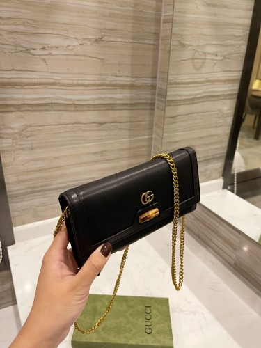 Gucci cowhide chain bag upgrade website latest model
