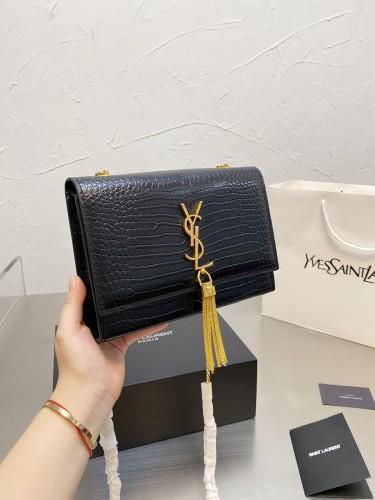 Cowhide version Kate fringe bag  ♥ Saint Laurent cowhide prince text