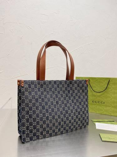 Gucci Denim vintage shopping bag