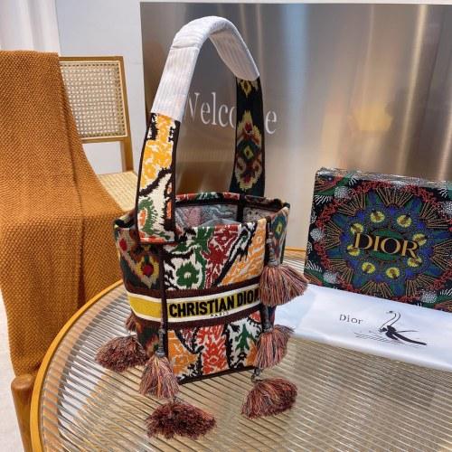 Dior bucket bag original embroidery