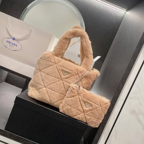 Prada two piece mobile phone bag, the most representative nylon material