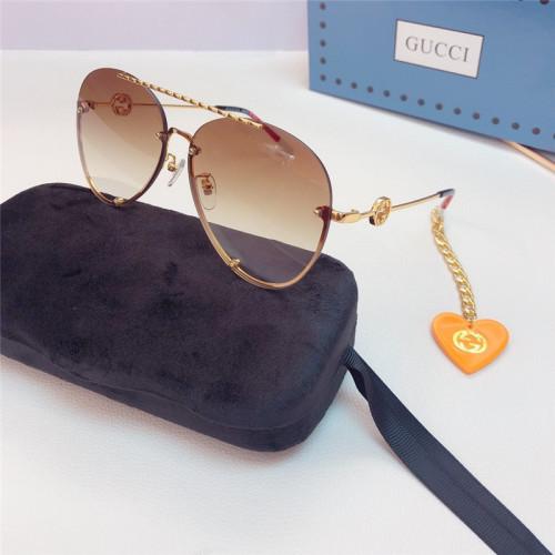 Replica GUCCI Sunglass for Women 1448840 GUCCI Glass with Heart Pendant SG685