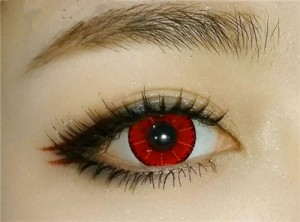 Party Colored contacts prescription Mystery Red