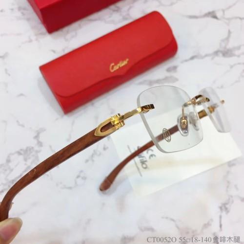 Replica Cartier Eyeglass Optical Wooden Frames CT00520 Wood FCA316