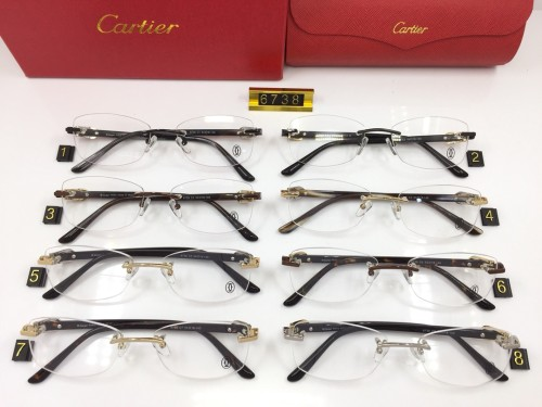 Wholesale Fake Cartier Eyeglasses 6738 online FCA292