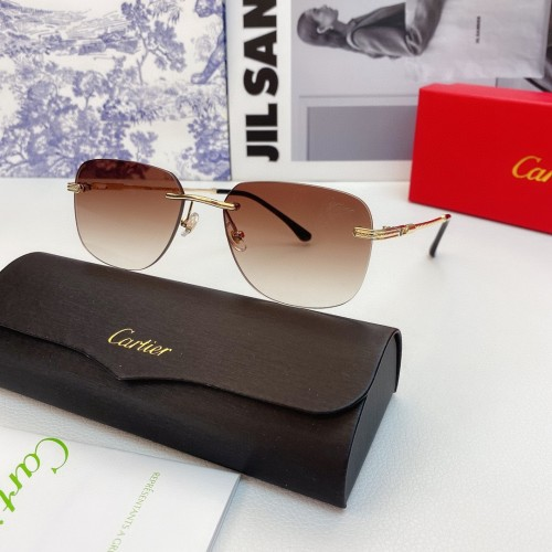 Cartier Sunglasses Replica Cartier glass 1455 Wooden CR161
