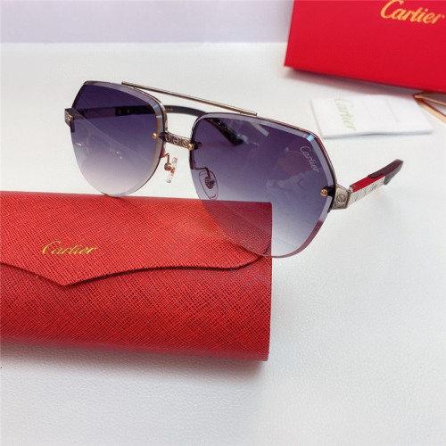 Wholesale Replica Cartier Sunglasses Wood CT8200989 Wooden Frame CR151