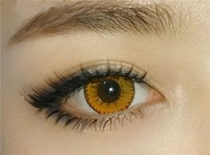 Party Colored contact lenses Mystery Yellow