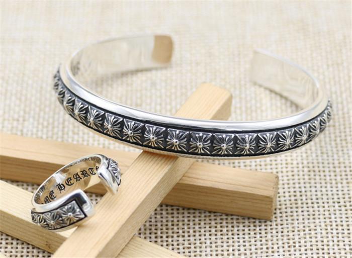 Chrome Hearts Tiny Cross Bangle / Ring CHT054 925 Silver