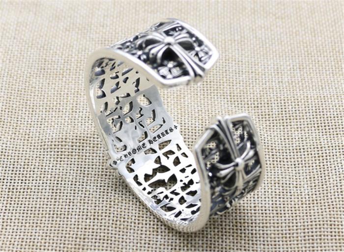 Chrome Hearts Wide Bangle CH CROSS CHT055 925 Silver