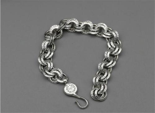 CHROME HEARTS Punk 925 Silver Bracelet CHB008