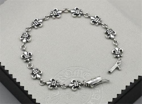 CHROME HEARTS Punk 925 Silver Bracelet CHB011