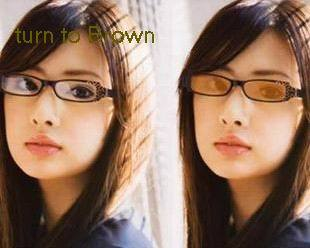 1.67 color changable  myopic,plain glass lenses