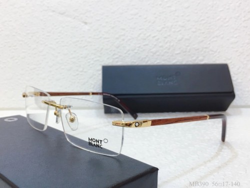 MONT BLANC Eyeglass Wooden Leg MB390 Wood Optical Frames FM365