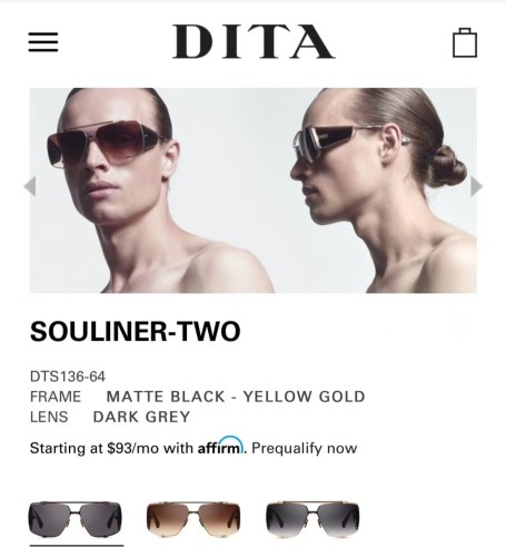 DITA Sunglasses SOULINER TWO SDI098