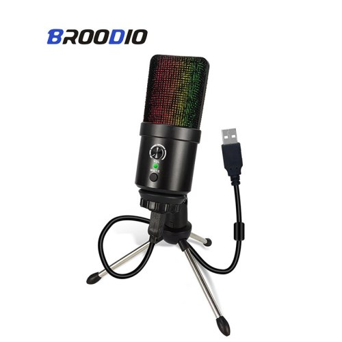 For PS4 Condenser Microphone Professional USB Condenser MIC Computer Microphone For PC Karaoke Singing Plug And Play Studio Mic