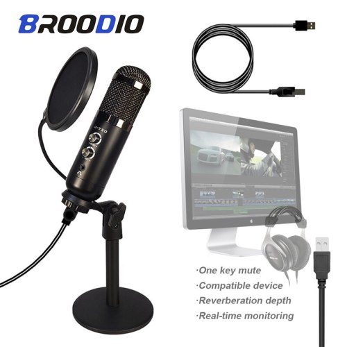New U730 Professional Condenser Microphone With USB Interface Support Bluetooth Mic For Karaoke Podcast YouTube Recording MIC