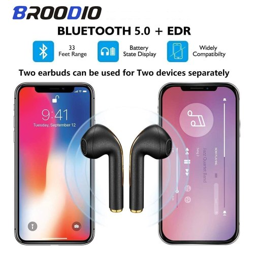 Wireless Earphones Bluetooth Sport Headset For Android IOS ear buds With HD Stereo Sound Music Touch-Control Pop-Up Headphone