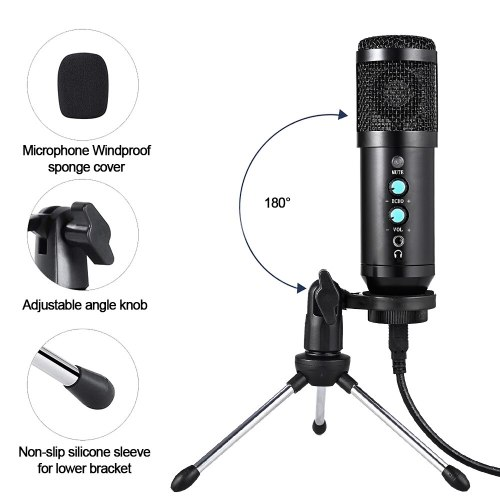 Karaoke Microphone For PC Singing Condenser Microphone Professional BM 800 Studio MIC Computer Recording USB Microphone Gaming
