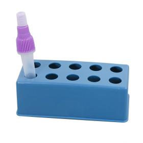 Wholesale 10 Wells Laboratory Display Plastic Blue Test Tube Rack