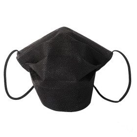 Black disposable non woven fabric cloth face mask activated