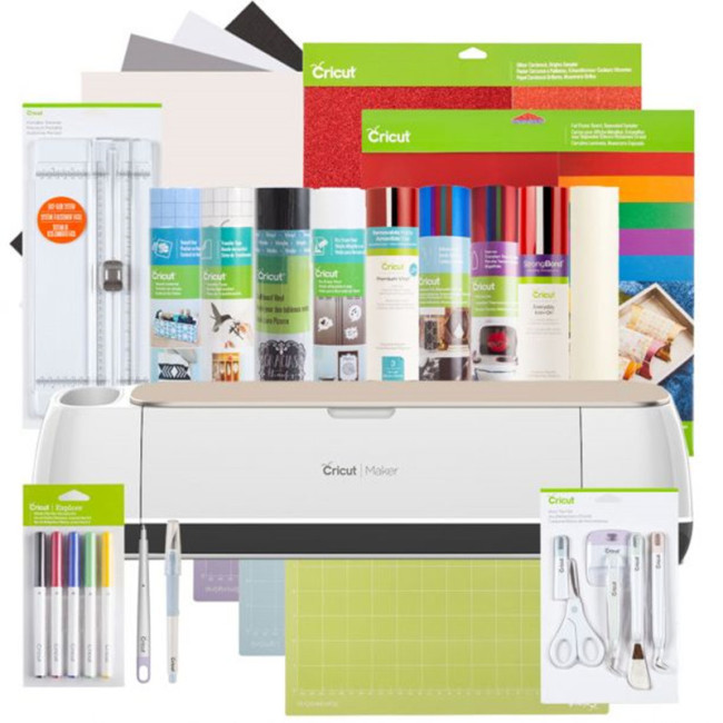 Cricut Maker® + Everything Materials Bundle, Champagne