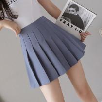 抗皺百褶裙短裙女夏季韓版高腰秋冬新款中長款黑色大碼a字半身裙