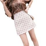 波点半身裙夏女短裙2021新款高腰韩版港味时尚复古包臀a字裙春秋