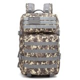 50L Camouflage Army Backpack Men Military Tactical Bags Assault Molle backpack Hunting Trekking Rucksack Waterproof Bug Out Bag