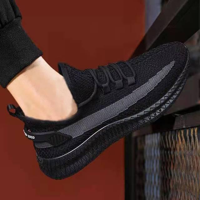新款老北京布鞋透氣休閑運動男士跑步潮鞋飛織韓版潮流男鞋