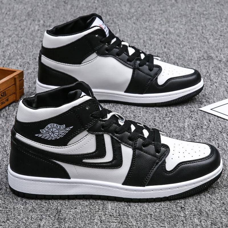 男鞋2021年新款春季百搭空军一号高帮板鞋夏季透气运动休闲潮鞋