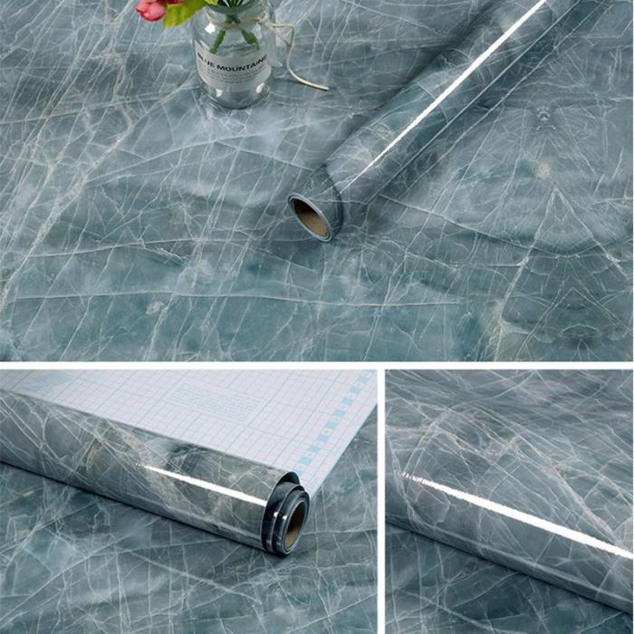 New Arrival!Waterproof Marble Wallpaper(3M)